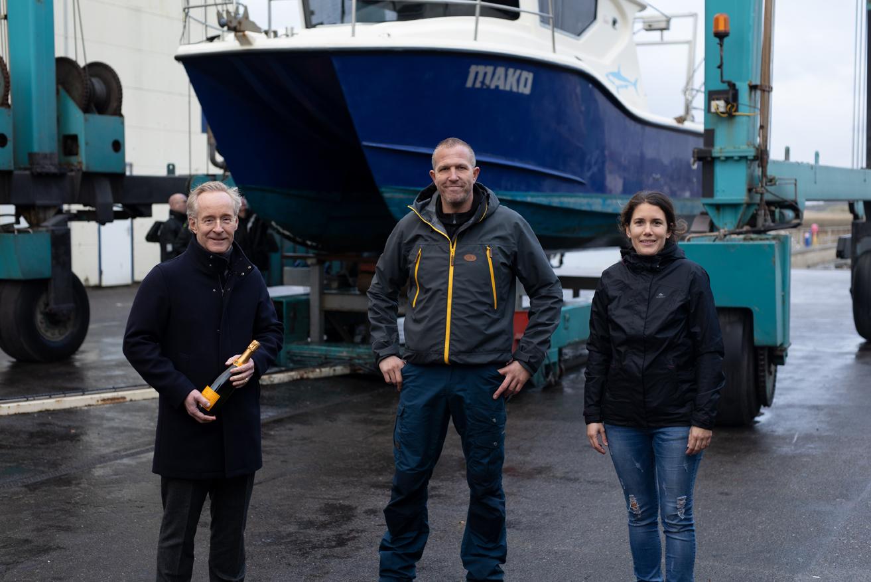 Pieter Furnée, Head of DWS Benelux with Pascal van Erp and Veronika Mikos, Healthy Seas